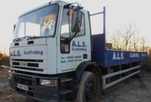 ALS Scaffolding Truck
